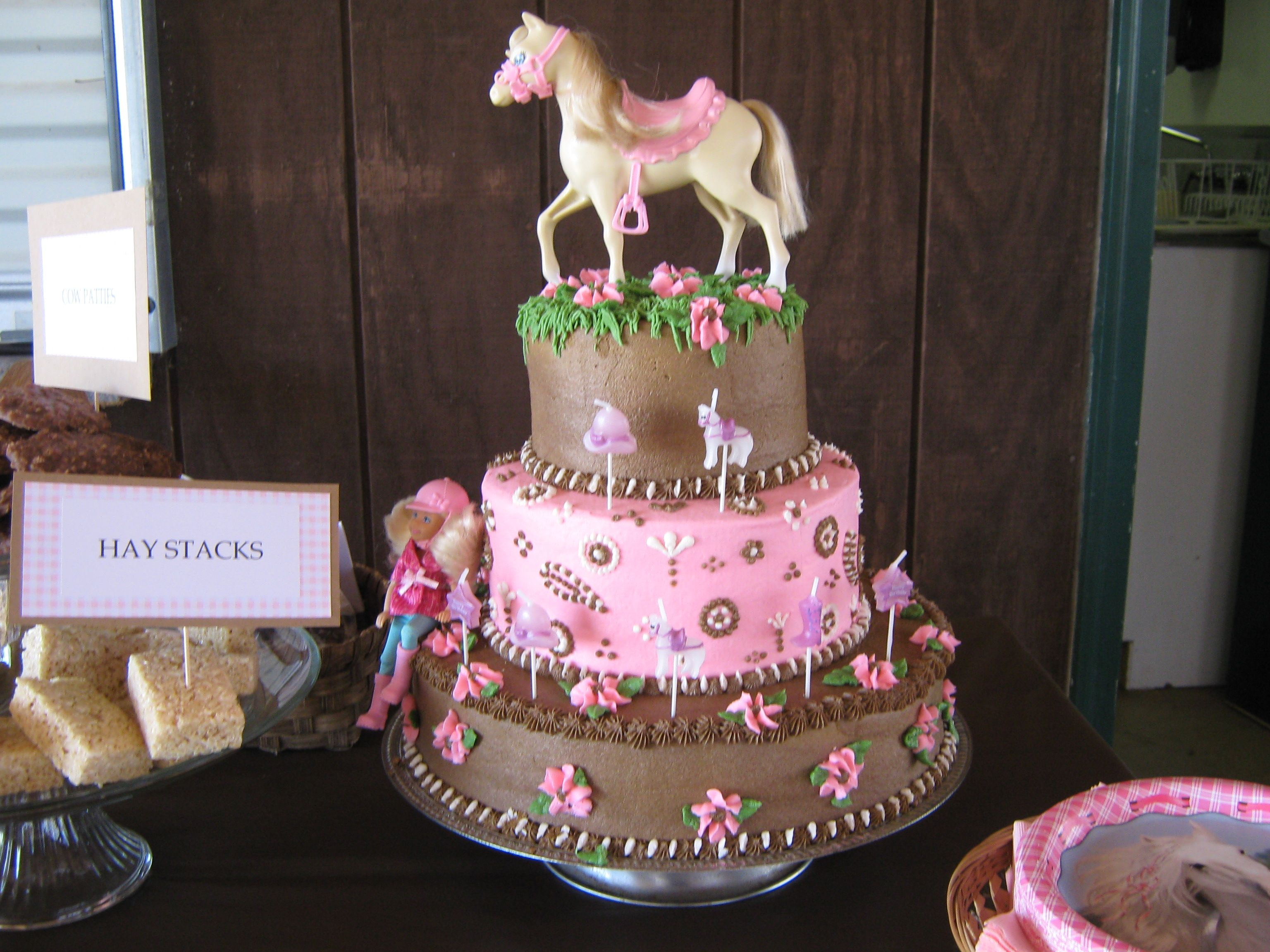 Cowgirl Birthday Cake With Images Cowgirl Birthday Cakes