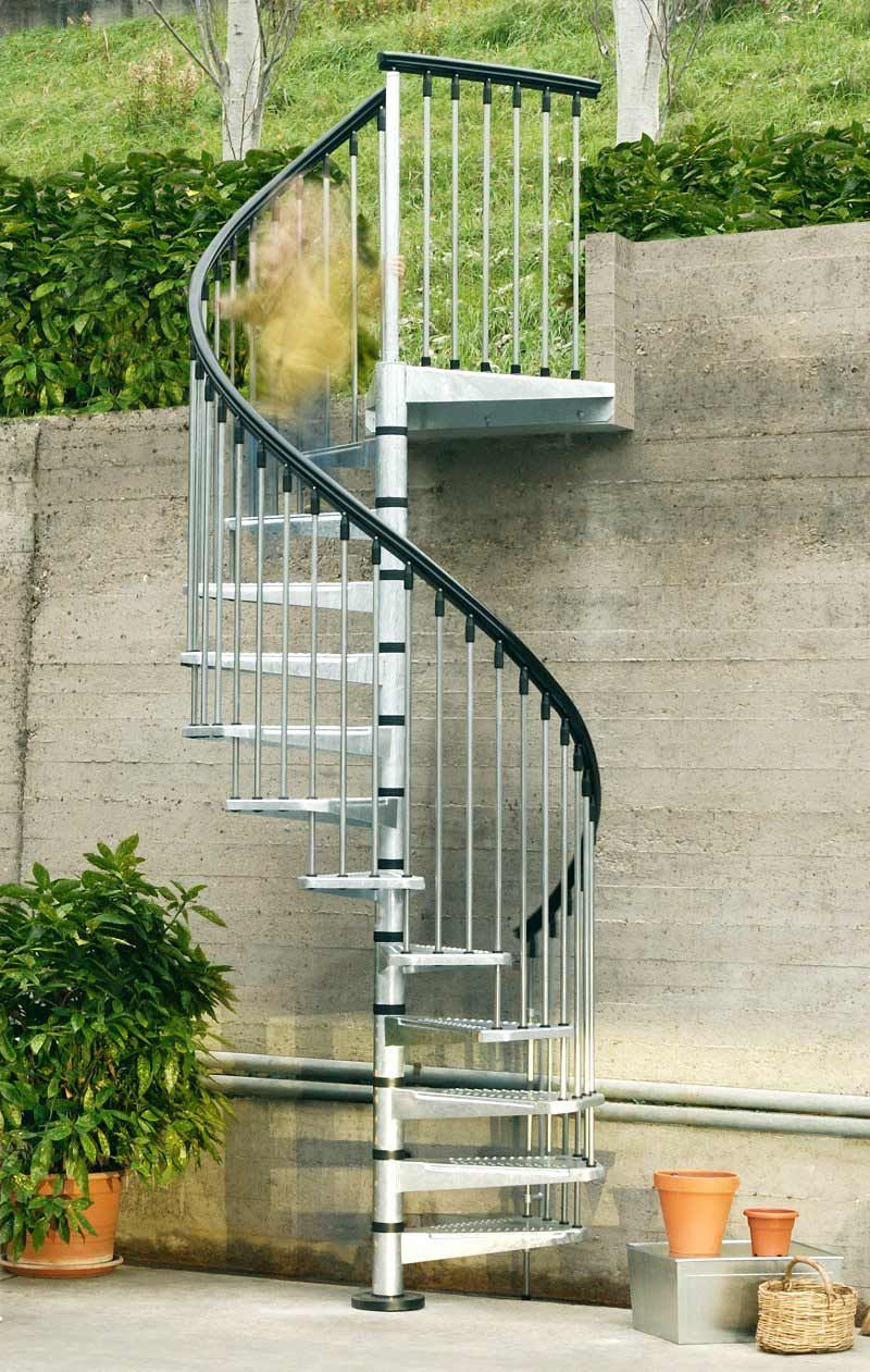 Other Design, : Lovely Outdoor Decoration And Garden Decoration With Spiral  Stainless Steel Staircase With