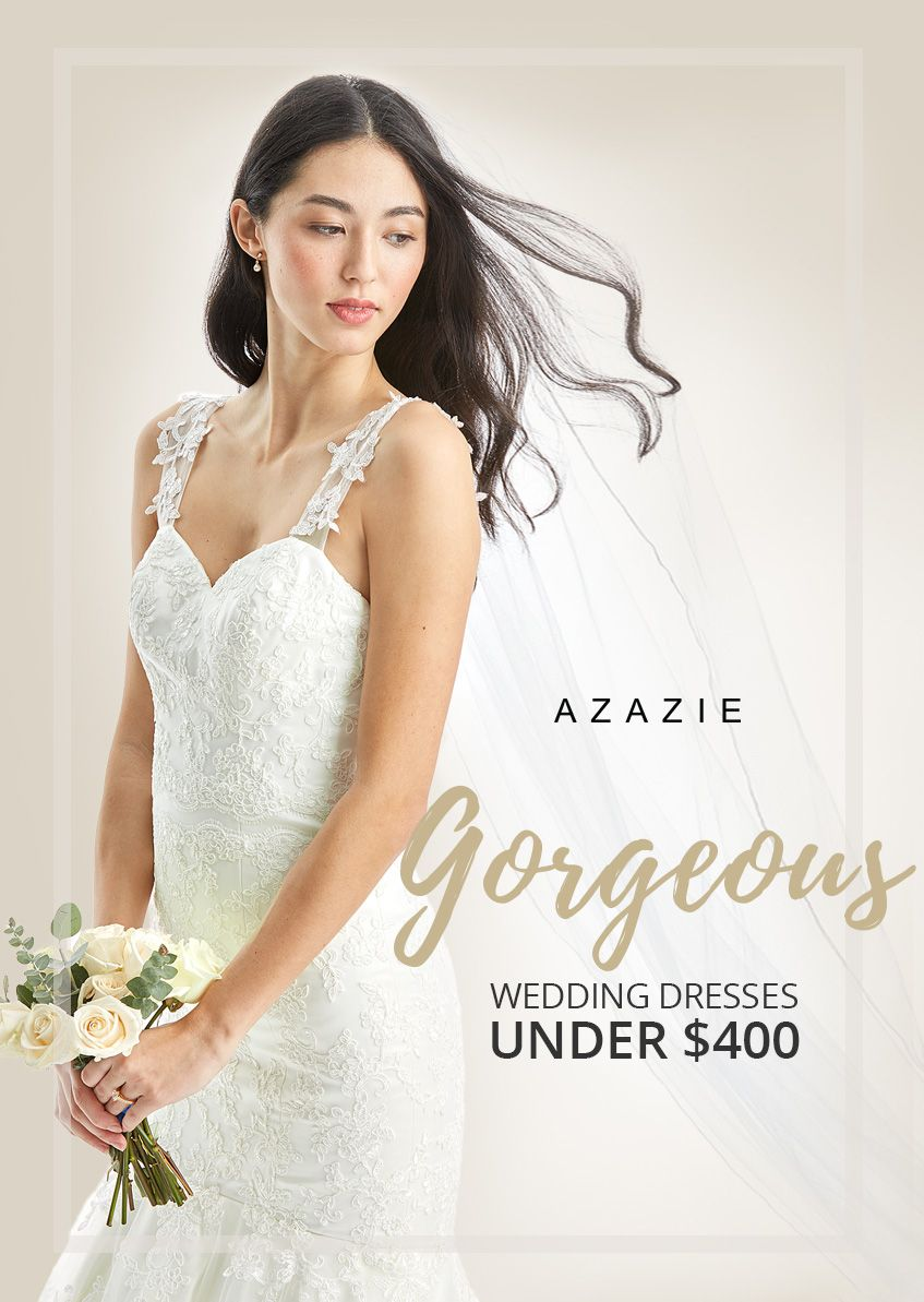 Gorgeous bridal gowns under $399 with free custom sizing - because ...