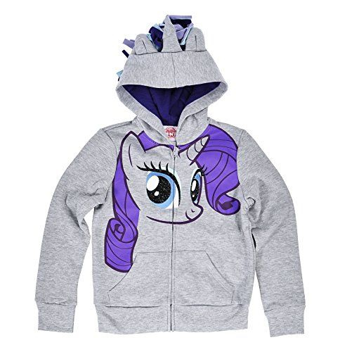 My Little Pony Girls Character Hoodie (Gray Large) @ niftywarehouse.com #NiftyWarehouse #Geek #Gifts #Collectibles #Entertainment #Merch