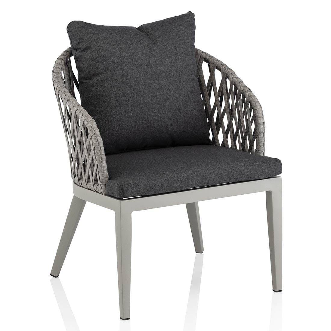 Kettler Sunny Diningsessel Aluminium Rope Gartensessel Anthrazit Grau Sessel
