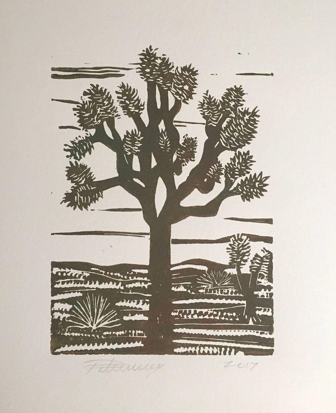 Muddy Brown Green Joshua Tree by PaulaTiberius on Etsy https://www.etsy.com/listing/556839333/muddy-brown-green-joshua-tree