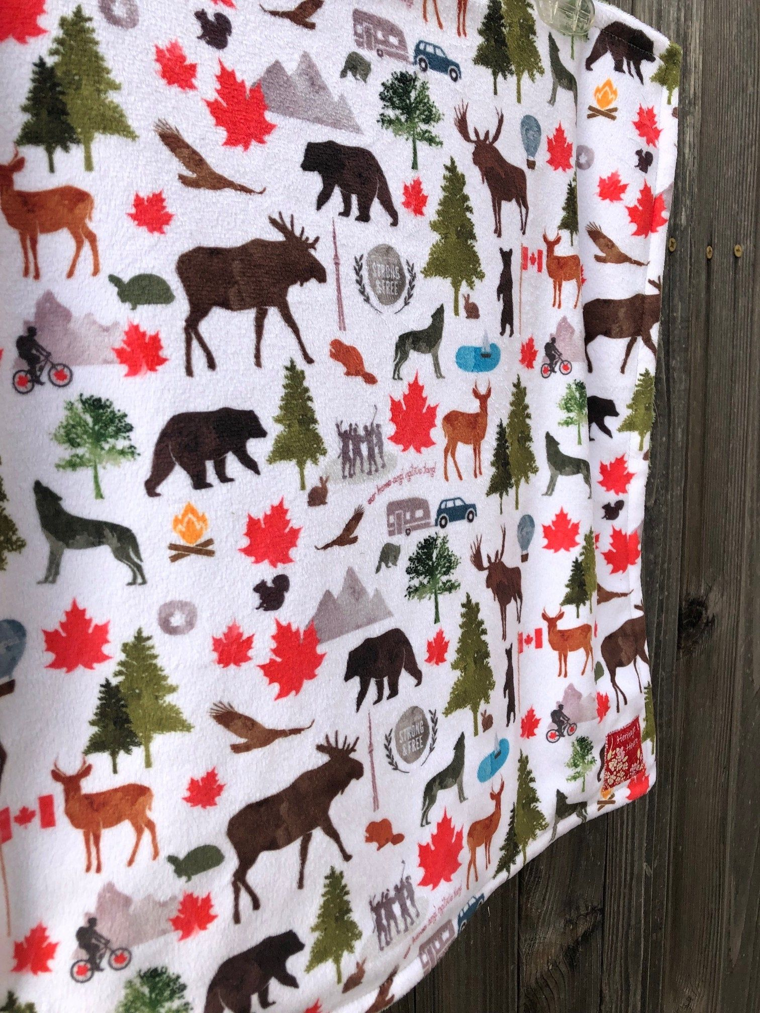 CANADA minky blanket baby crib or stroller blanket toddler