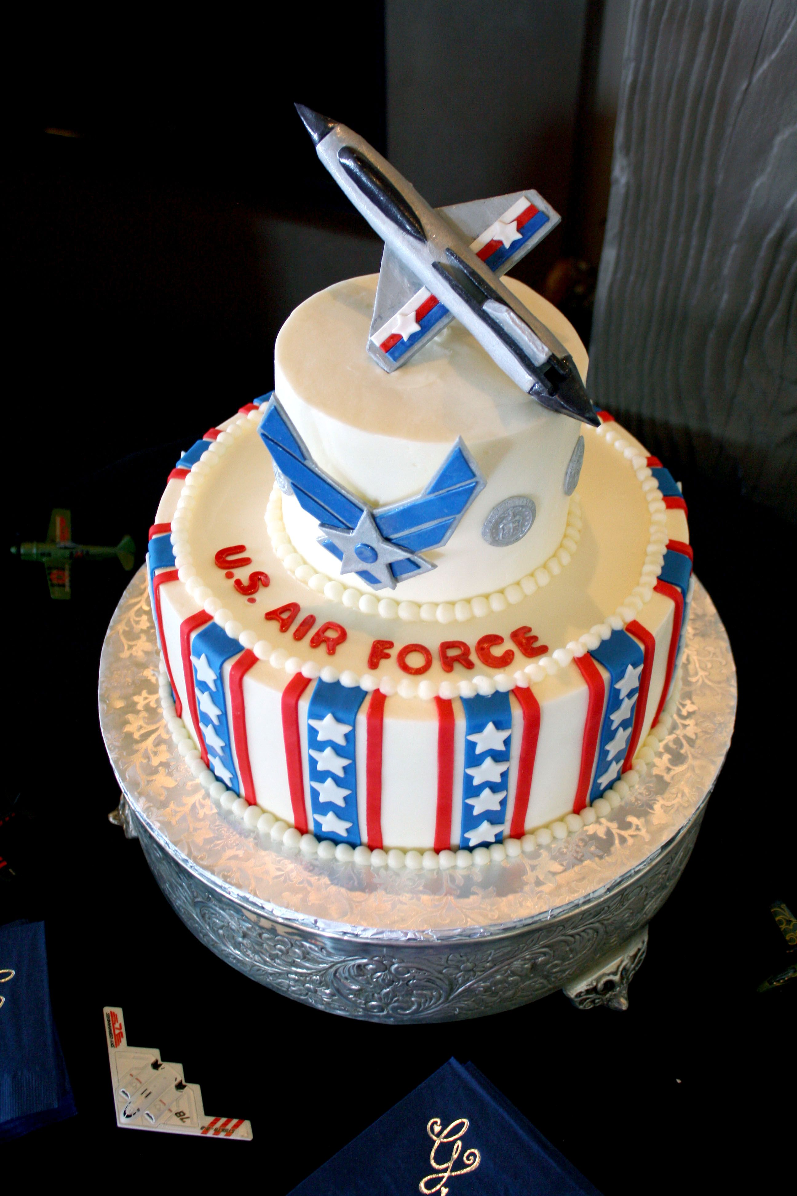 Air Froce Grooms Cake at our wedding Airplane Pinterest