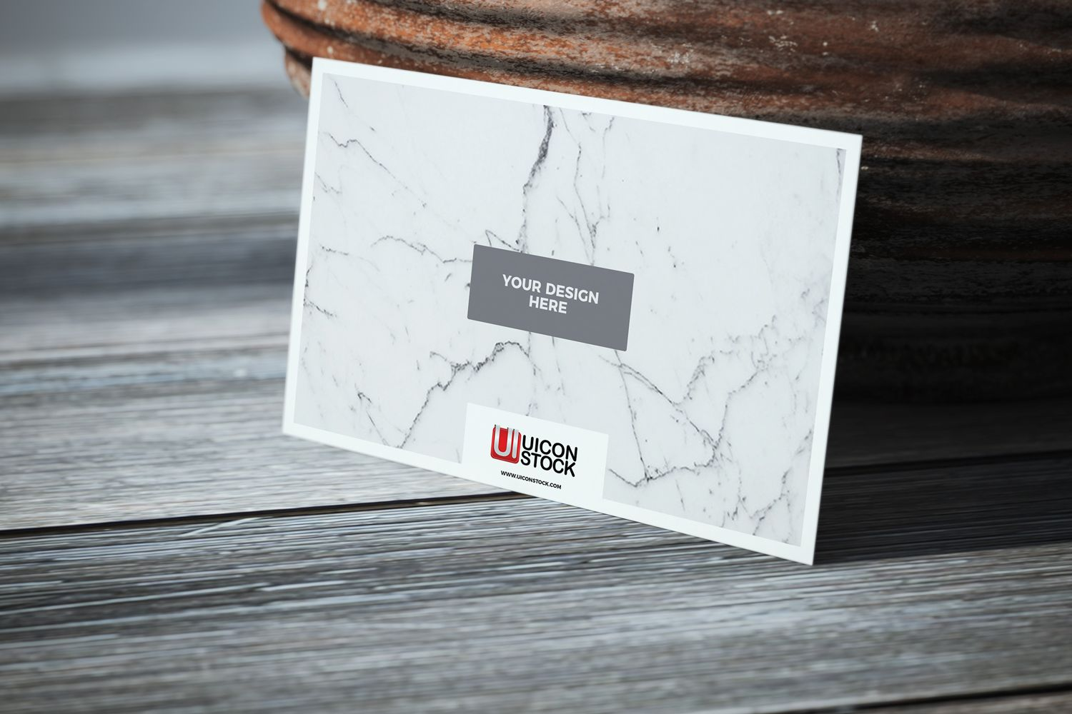 Free Texture Paper Business Card on Wooden Table Mockup | Wooden ...
