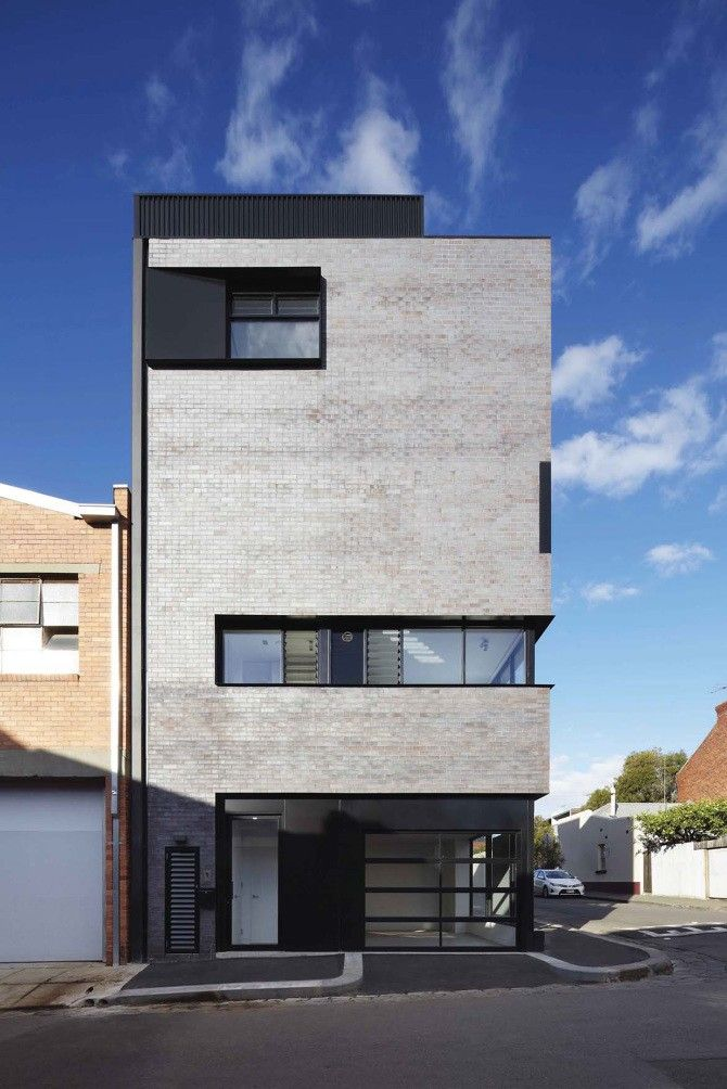 Four new modern townhouses freadmanwhite geumhodong for Townhouse exterior design