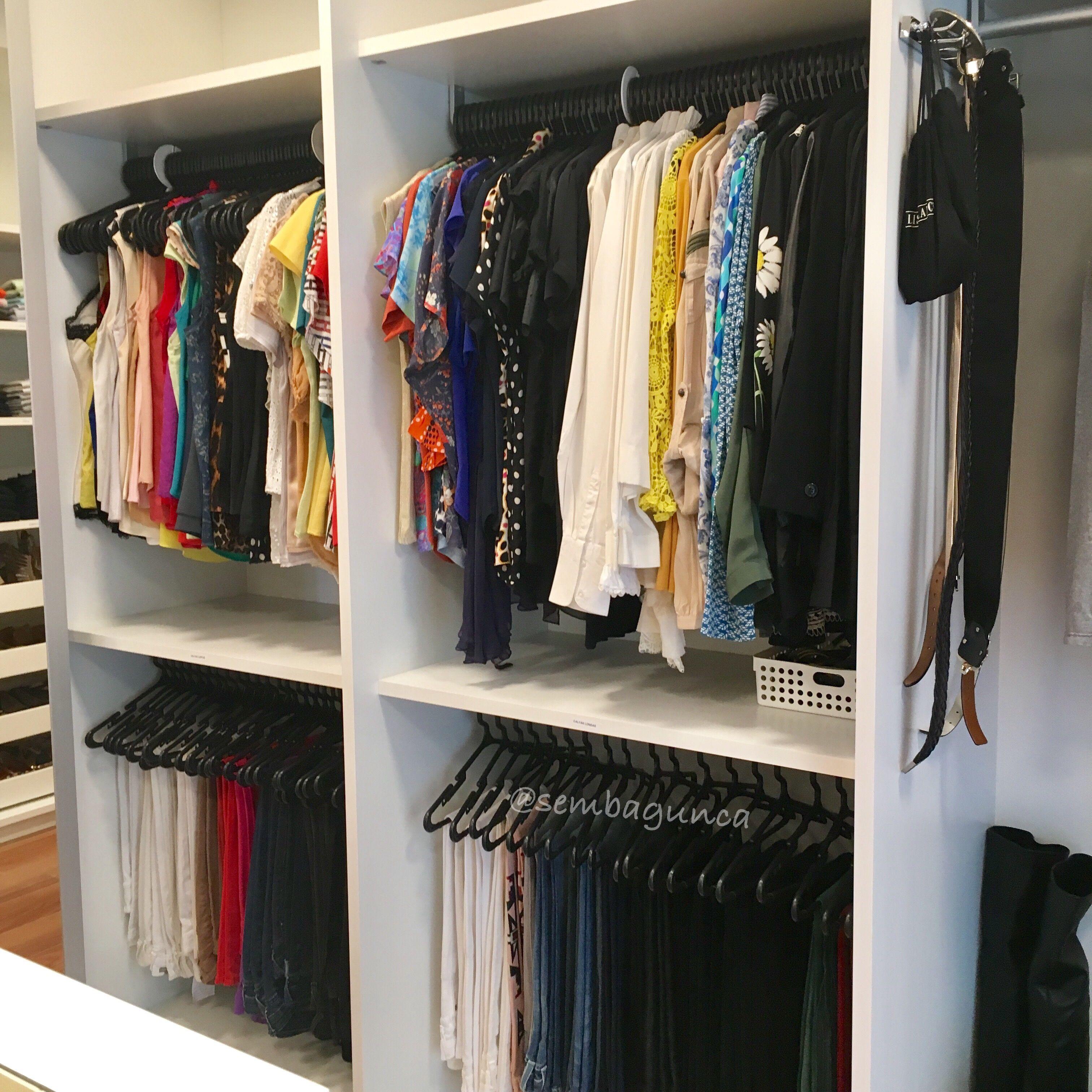 Organized by sem bagunça instagram sembagunca closet