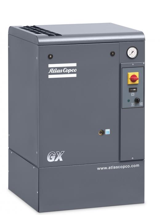 Atlas Copco Gx2 150 Ap 3 Hp Rotary Screw Air Compressor 208 230 460 Volt 3 Phase 8152101815 Air Compressor Compressor Locker Storage