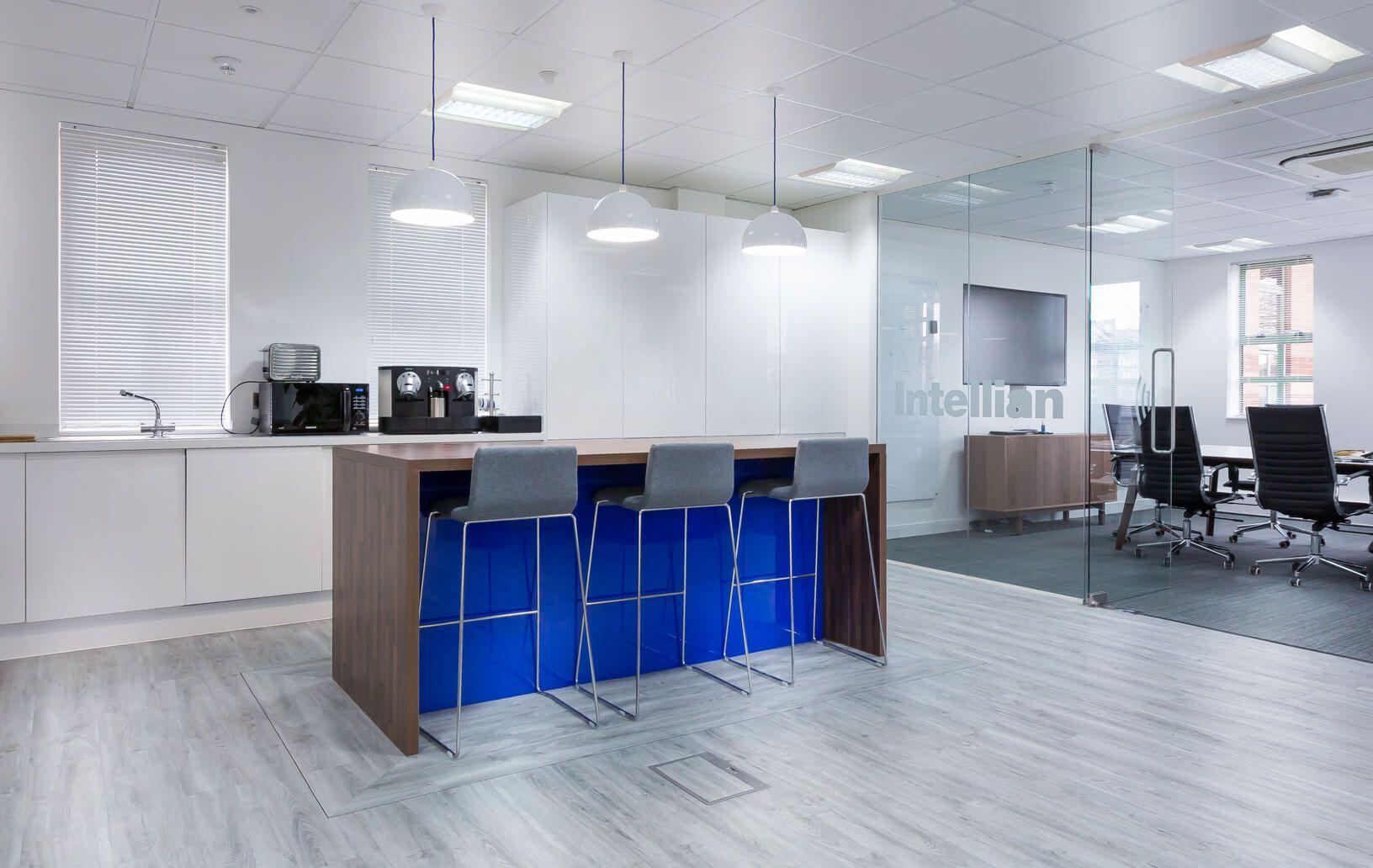 Staff Kitchen Southampton Office interiors, Interior