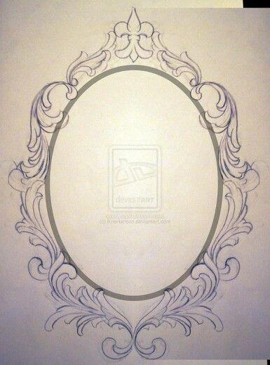 mirror frame tattoo designs google search tattoo pinterest framed tattoo tattoo designs. Black Bedroom Furniture Sets. Home Design Ideas
