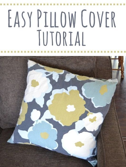 Easy Pillow Cover Tutorial- how to sew an easy cover for a throw pillow- & Easy Pillow Cover Tutorial- how to sew an easy cover for a throw ... pillowsntoast.com