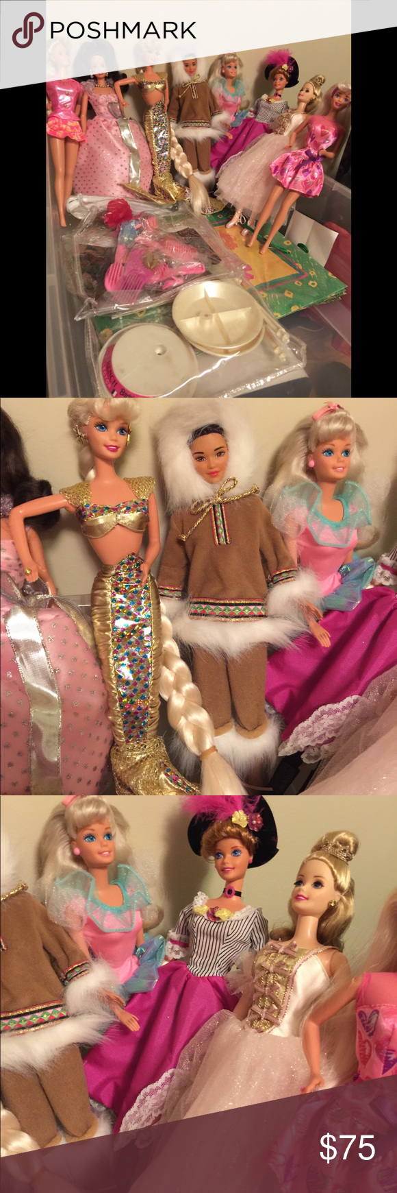 BARBIE DOLL COLLECTION 15 yr old Barbies save from a house