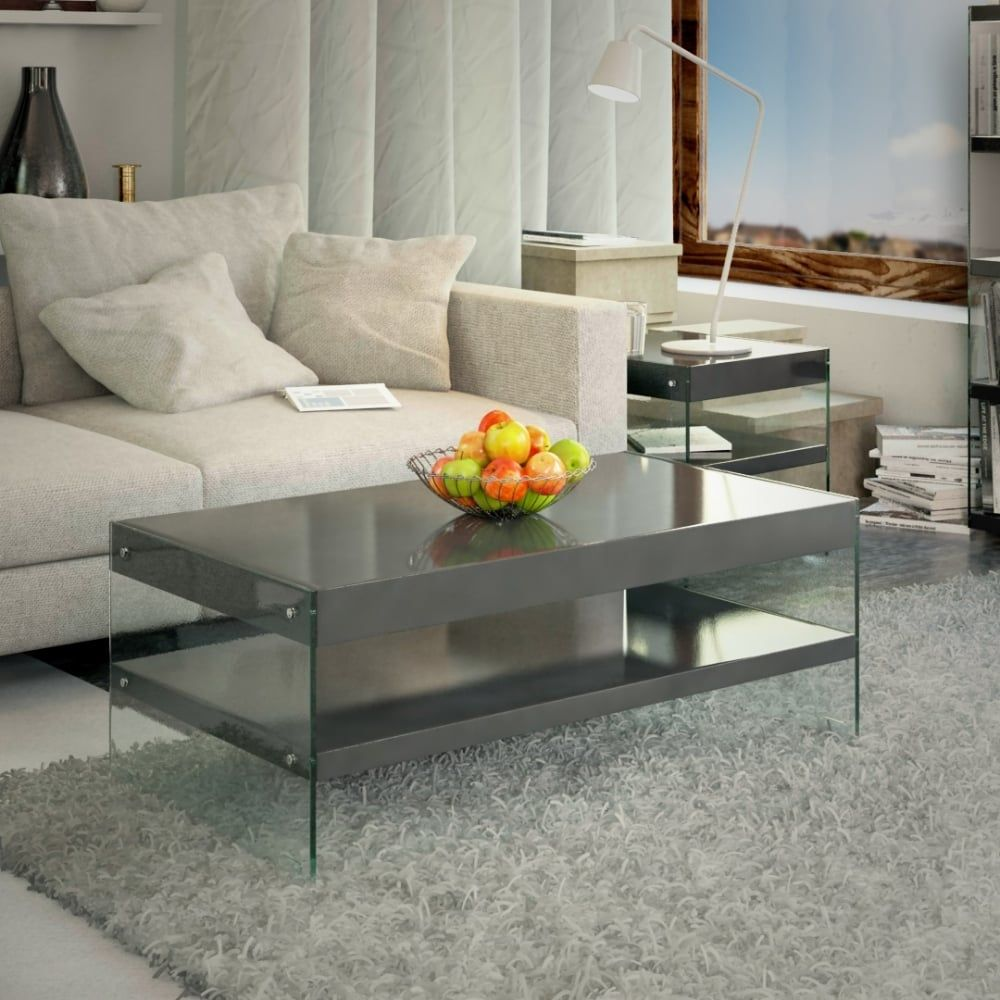 Emporium Home Waverley Grey Gloss Coffee Table Coffee Table White Gloss Coffee Table Trendy Coffee Table [ 1000 x 1000 Pixel ]