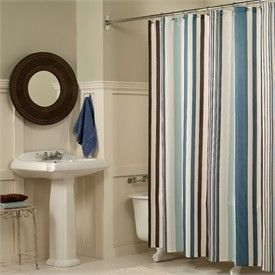 Blue And Brown Curtains Brown Shower Curtain Striped Shower Curtains Fabric Shower Curtains