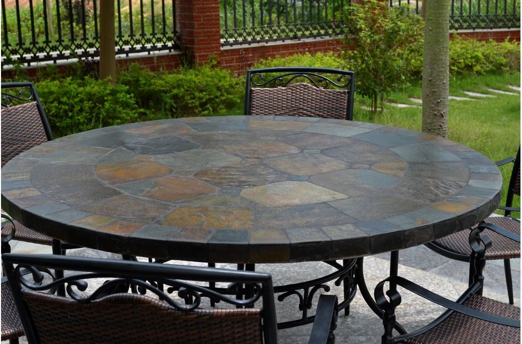 Things You Never Knew About Round Patio Dining Sets For 6 Darbylanefurniture Com In 2020 Patio Slate Patio Patio Dining Table