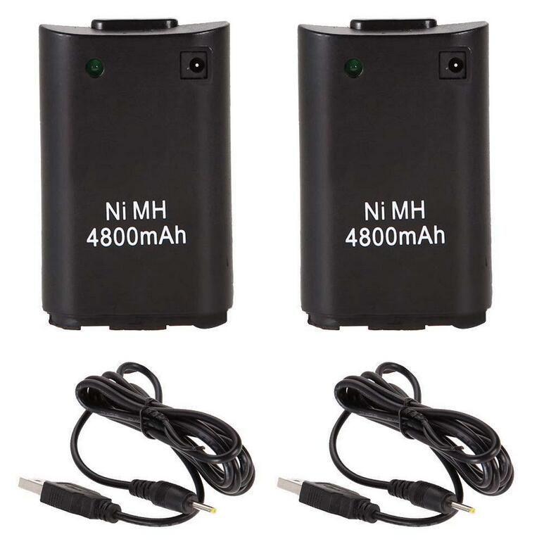 2x4800 mah battery pack + charger kabel untuk xbox 360 wireless ...