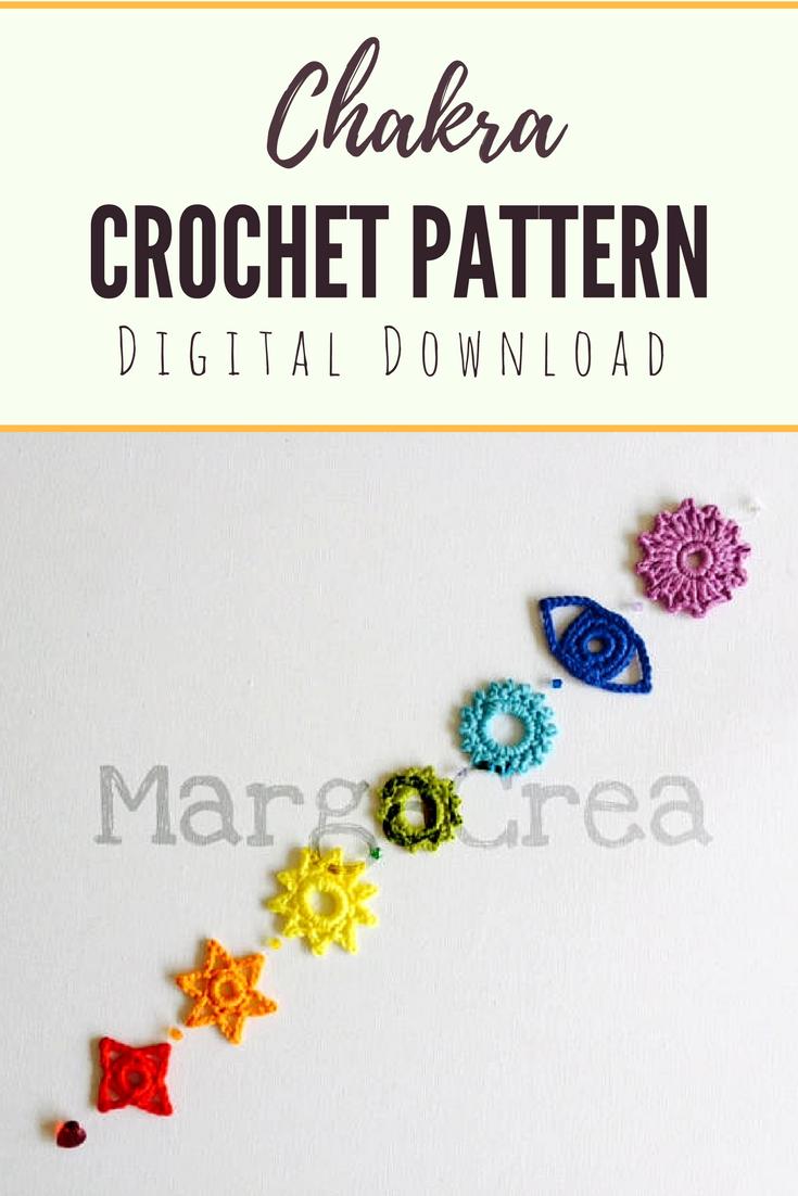 Beautiful DIY Chakras Crochet Pattern, digital pdf download! Yoga  Lifestyle, Root chakra, sacral chakra, solar plexus chakra, heart chakra,  throat chakra, ...