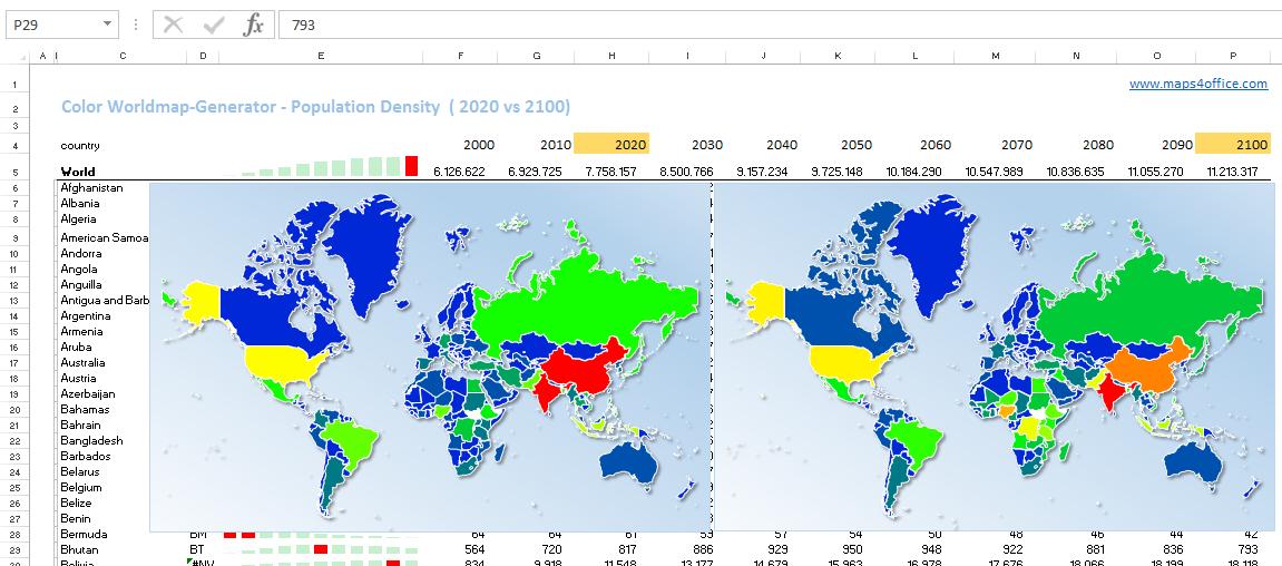 World map population estimates 2100 worldmap world map population estimates 2100 maps4office gumiabroncs Images