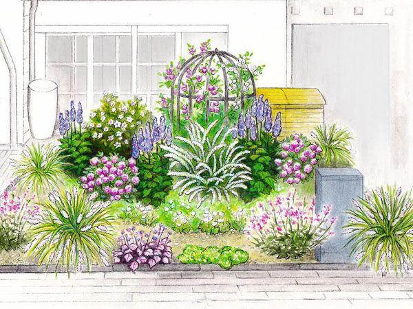 Ideen für den Reihenhaus-Vorgarten | Garden Plans | Pinterest ...