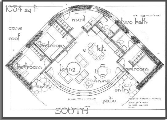 1034, straw bale house plan (1034 Sq Ft) Cob Cottages and - site plan template