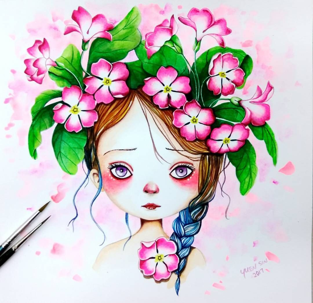 "178 Likes, 4 Comments - Jess Totoro (@jesstotoro) on Instagram: ""#coloriagewild #coloriagewildcoloringbook #emmanuellecolin #sakurapetitcolor #sakurakoiwatercolors…"""