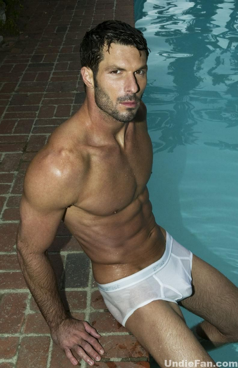 underwear Wet men white