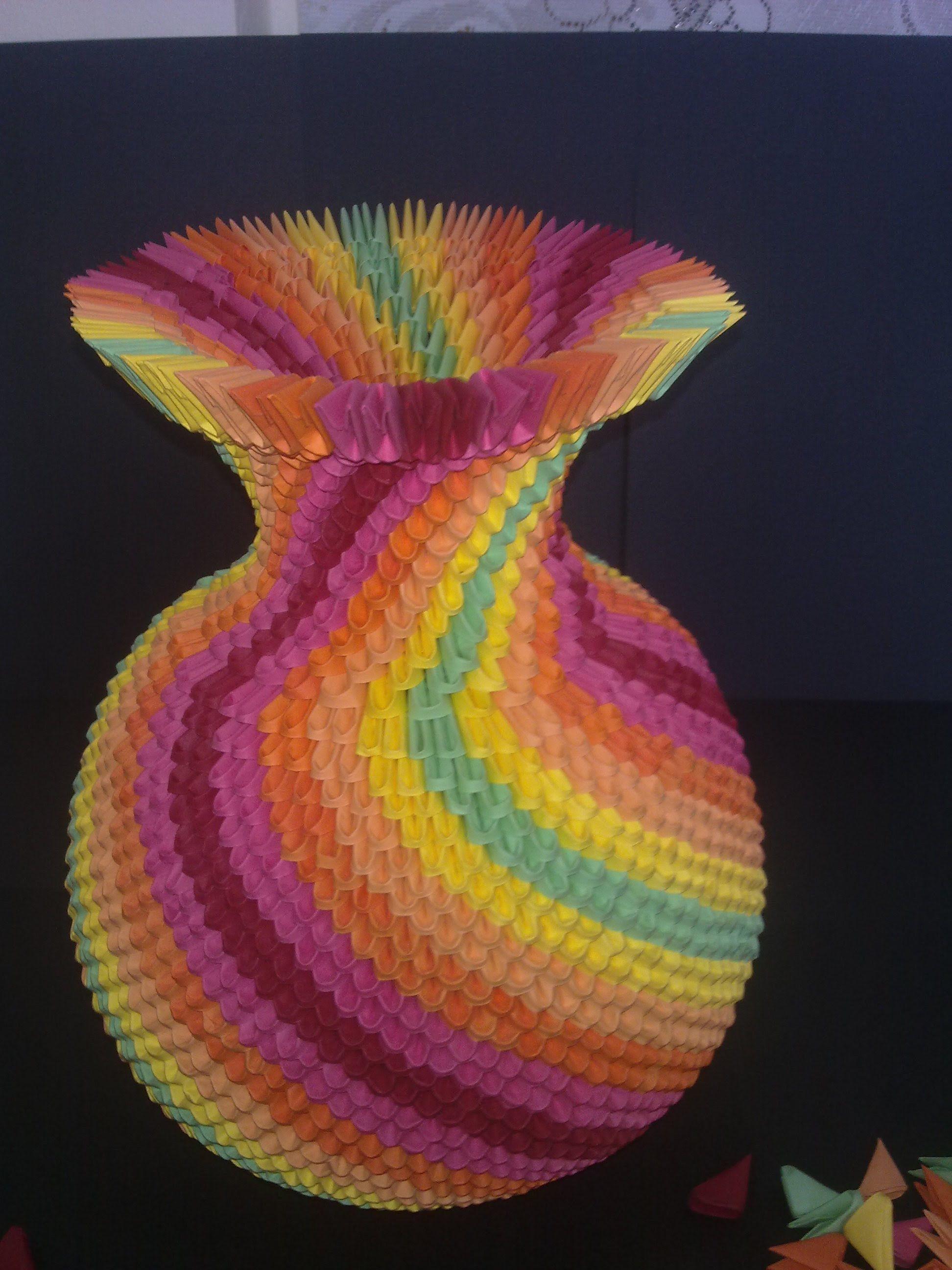 3d Origami Rainbow Vase Part1