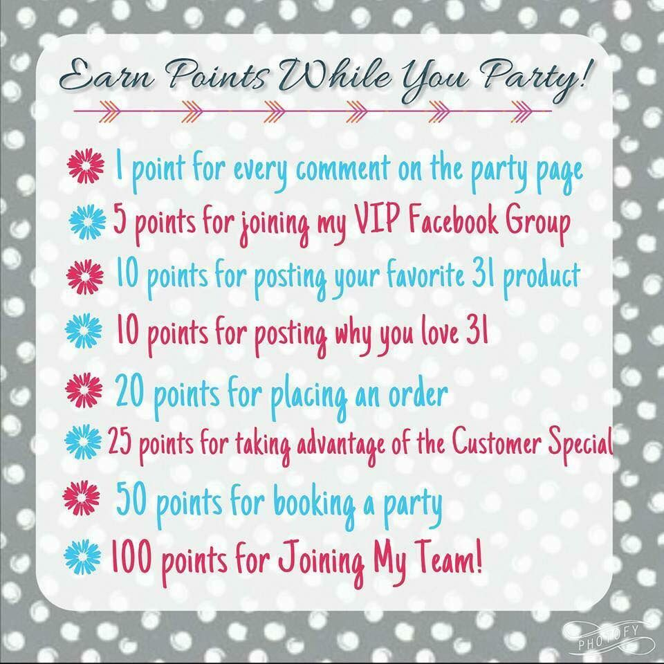 Earn points while you party
