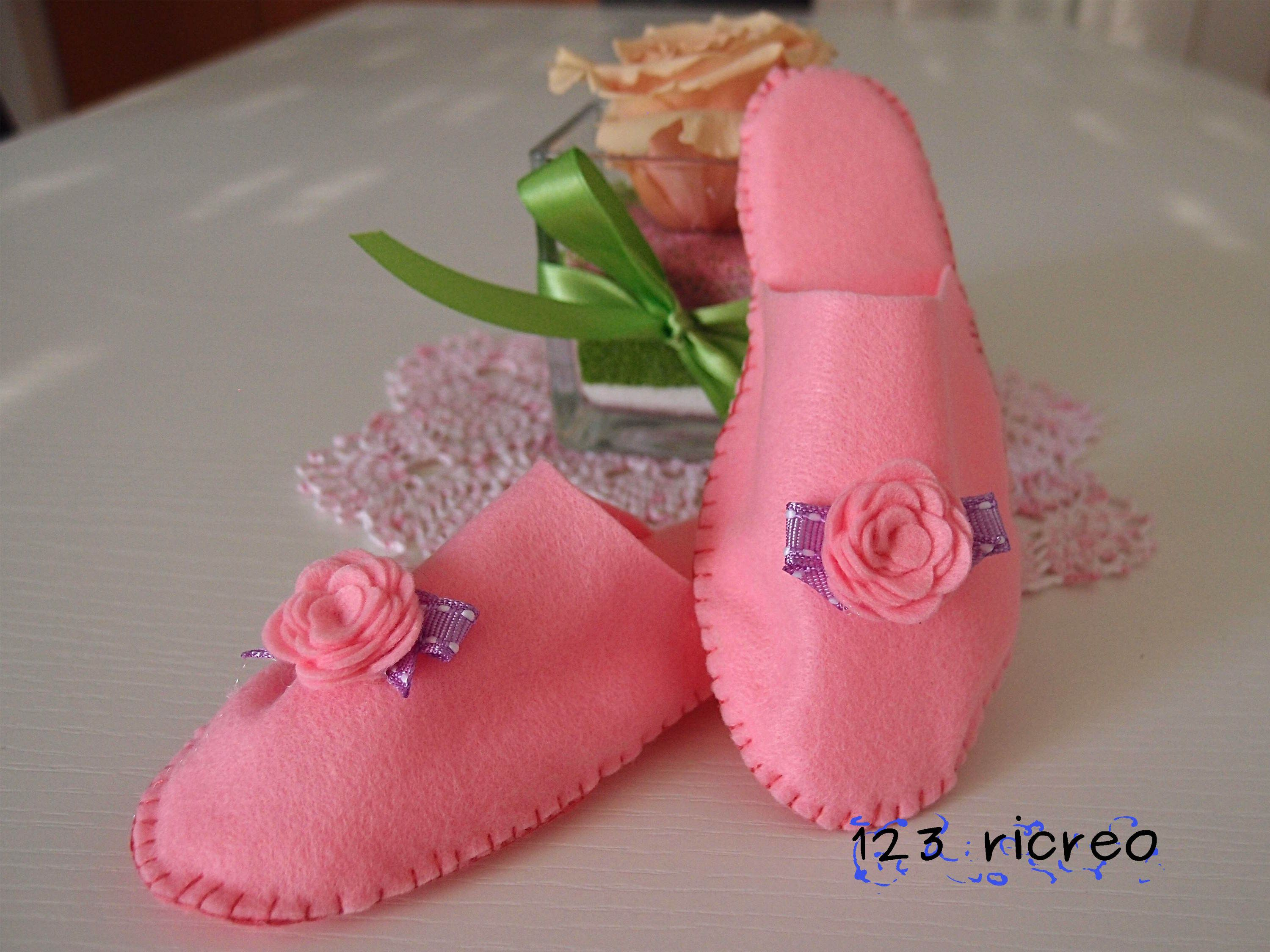 Photo of pantofole per bambina in pannolenci rosa – #bambini #pantofole