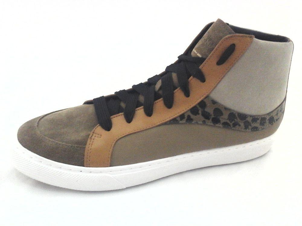 ada60123ab7de3 COACH Sneakers High Top Premium Khaki Tan Animal Print G1420 Men s US 12 EU  45  Coach  WalkingShoes