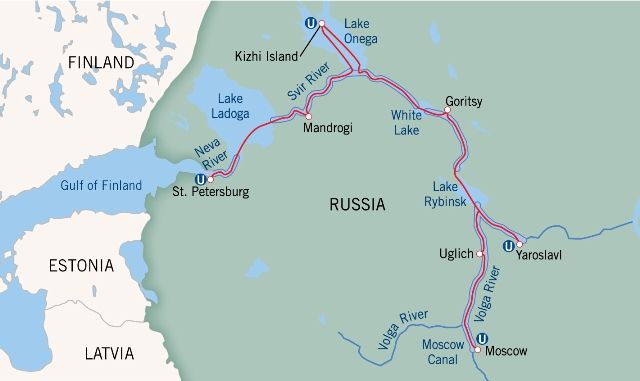 Cruise The Russian Waterways From Moscow To St Petersburg Russia