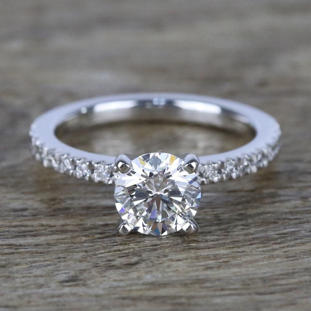 1 Carat Near Flawless Round Diamond Engagement Ring Round Diamond Engagement Rings Round Diamond Engagement Diamond Engagement Rings