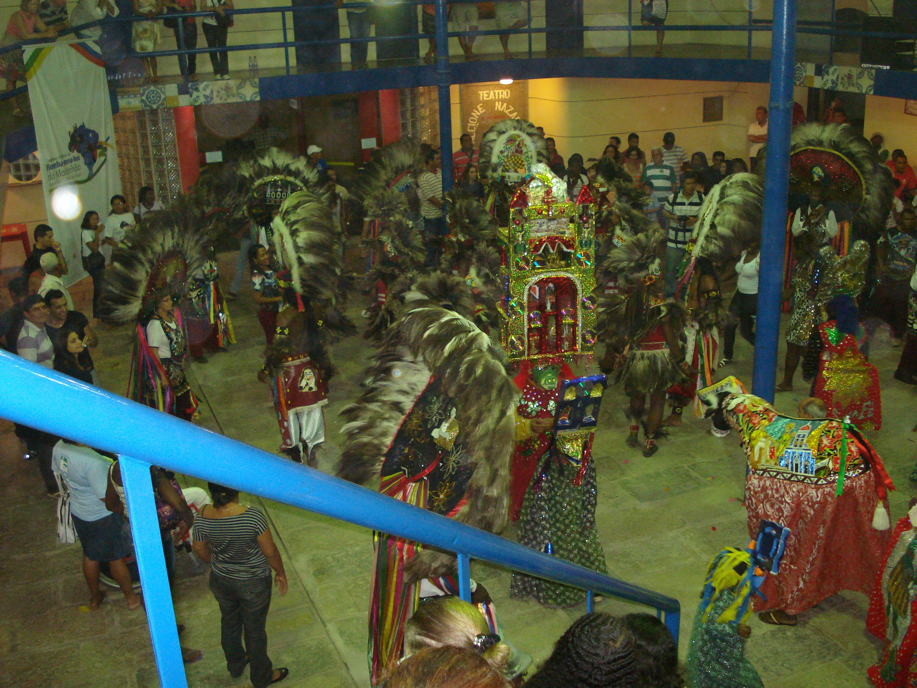 As tradições folclóricas do povo maranhense. Centro histórico de São Luís, Maranhão - BRASIL