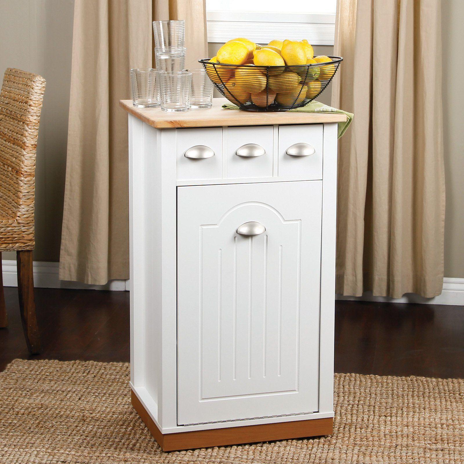 Have To Have It Venture Horizon Holden Kitchen Island With Hidden Trash Bin Pantry 179 95 Hayneedle Com In The Kitchen Kitchen Cabinet Storage Kitc