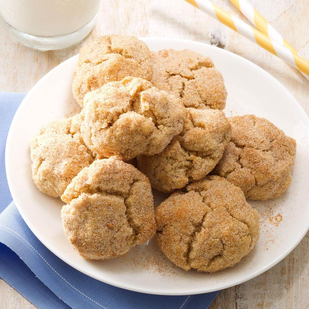 Chewy whole wheat snickerdoodles recipe light desserts