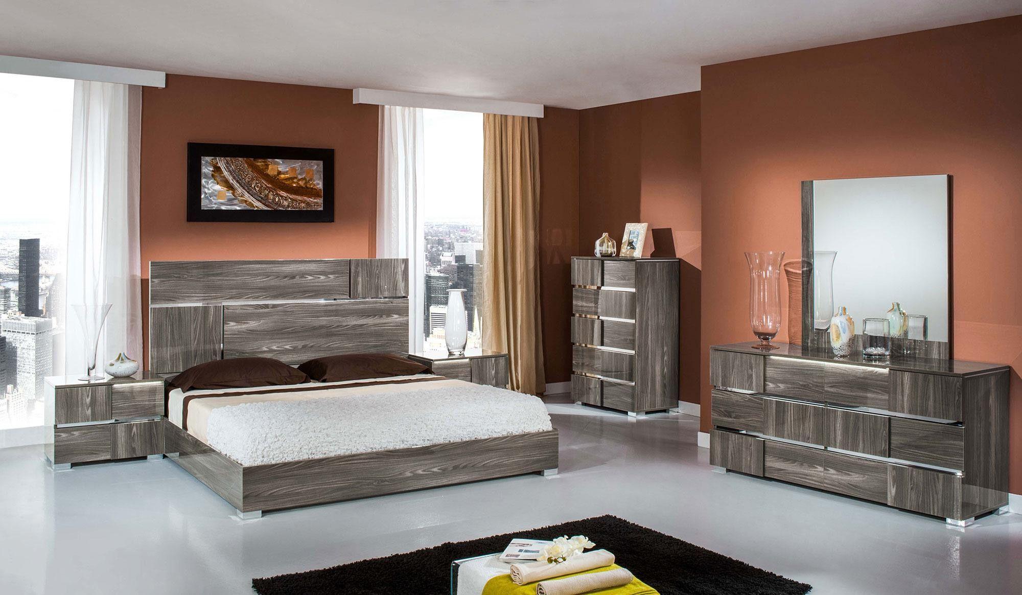 Modrest Picasso Italian Modern Lacquer Bedroom Set