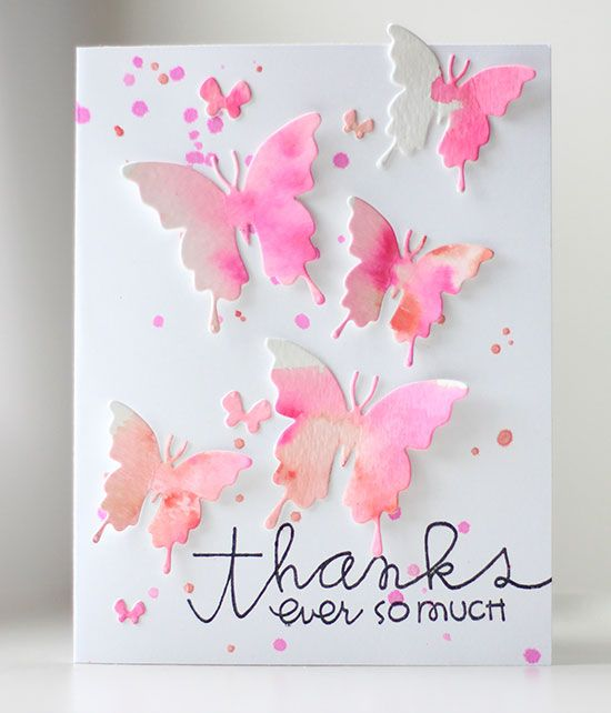 Virtual Smooches Watercolor Butterflies Card With How To Video