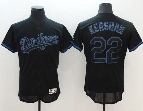 Buy Dodgers Clayton Kershaw Black Fashion Flexbase Authentic Collection  Stitched Baseball Jersey from Reliable Dodgers Clayton Kershaw Black  Fashion ...