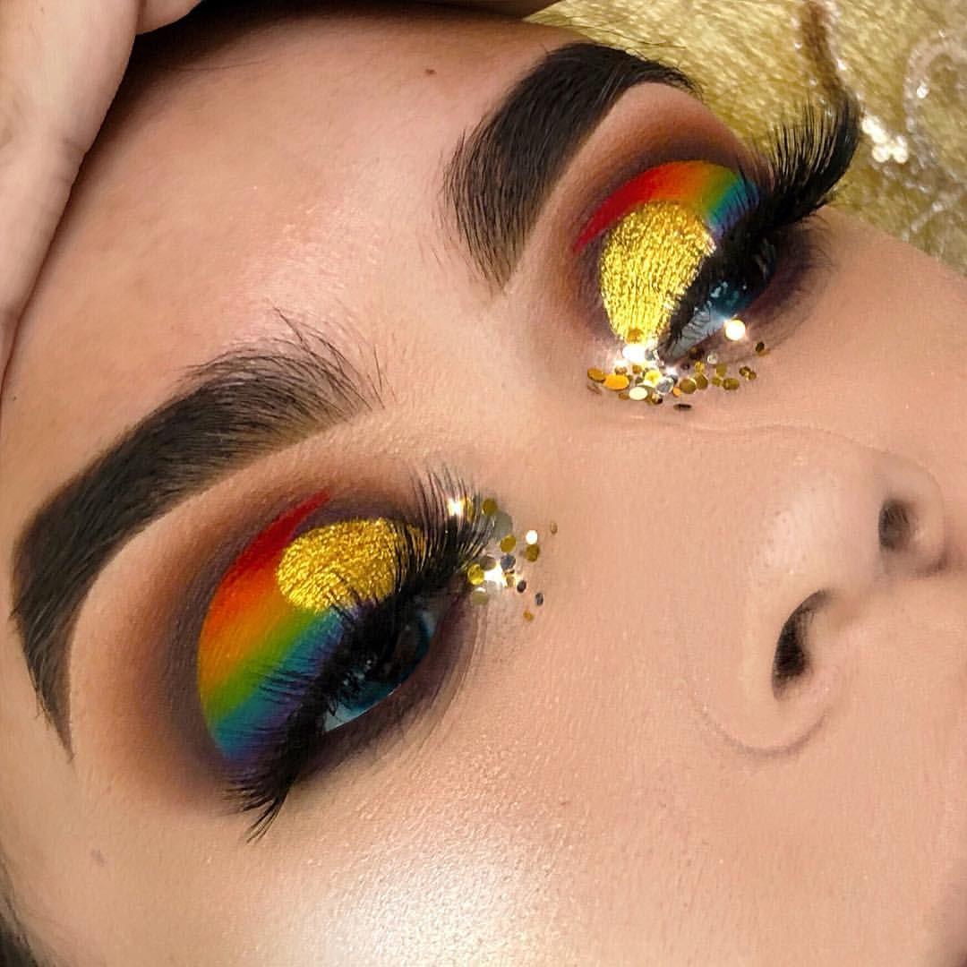 Inspired By Rocioceja Eye Ladies Eye Makeup Colorful Eye