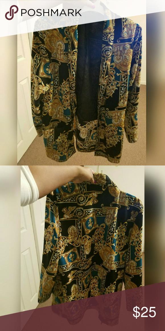 Scarf print vintage jacket blazer Great condition size M/L Jackets & Coats Blazers