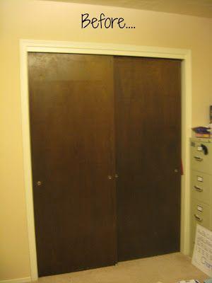 Closet Door Makeover Old Closet Doors Wood Closet Doors Closet