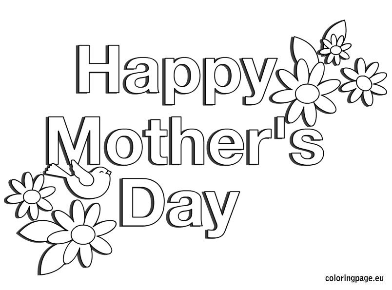 Mother 39 s day coloring pages google search coloring for Happy mothers day coloring page