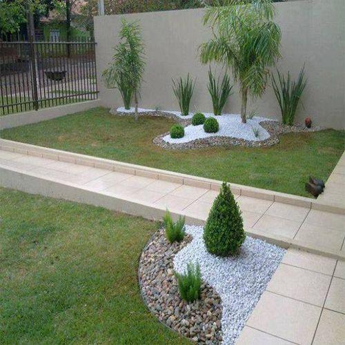 como se faz canteiro com pedras no jardim - Pesquisa Google - jardines modernos