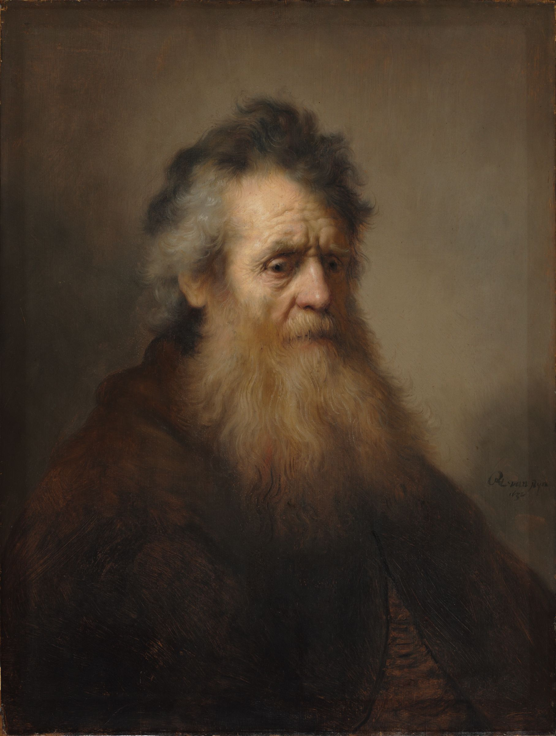 rembrandt harmenszoon van rijn dutch dutch golden age portrait of an old man 1632 by rembrandt van rijn harvard museums