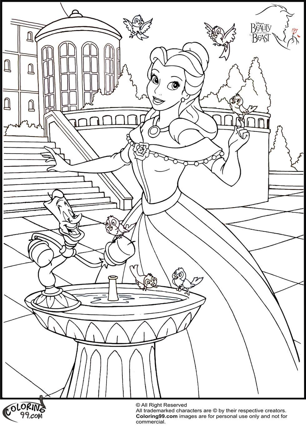 Disney Princess Belle Coloring Pages  Coloring26.com  Disney