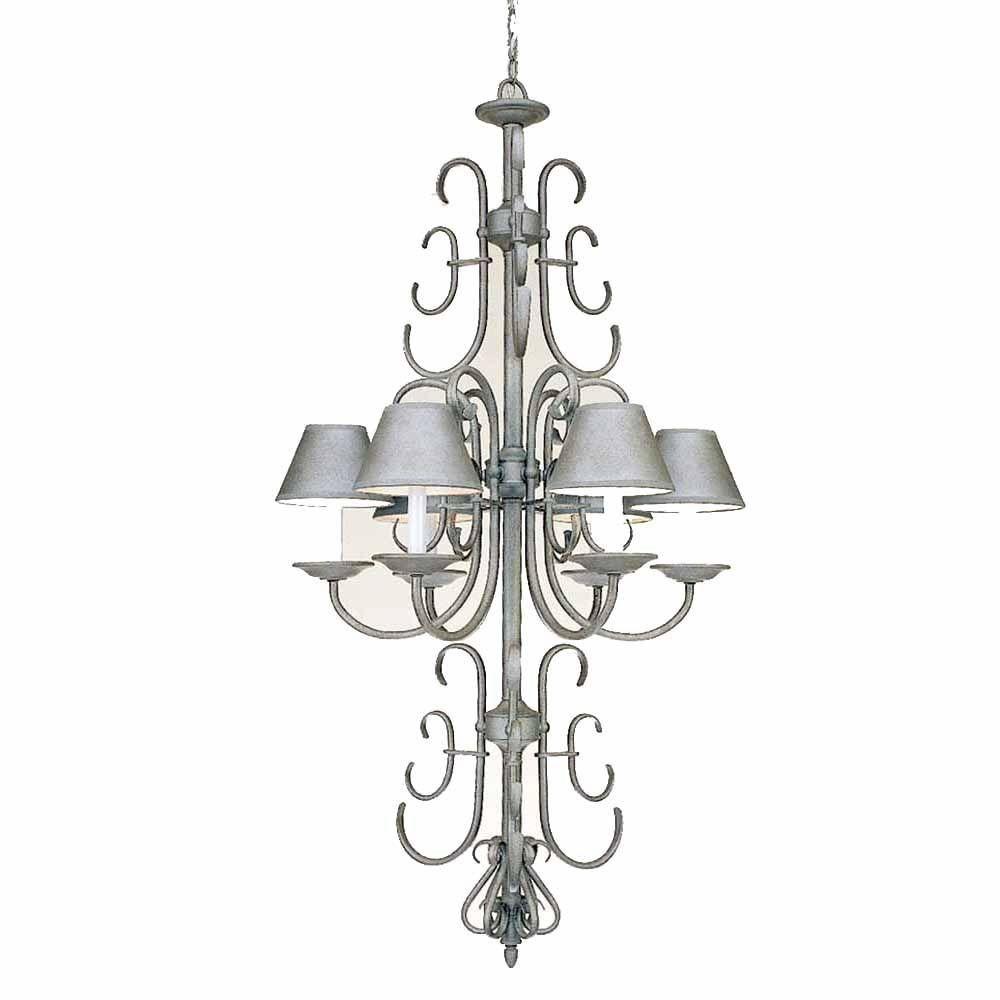 Filament design lenor light platinum rust incandescent ceiling