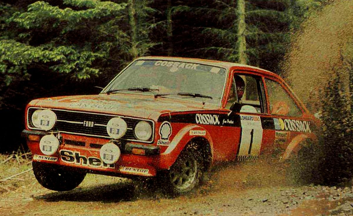 Scottish Rally Clark Roger Porter Jim Ford Escort Rs