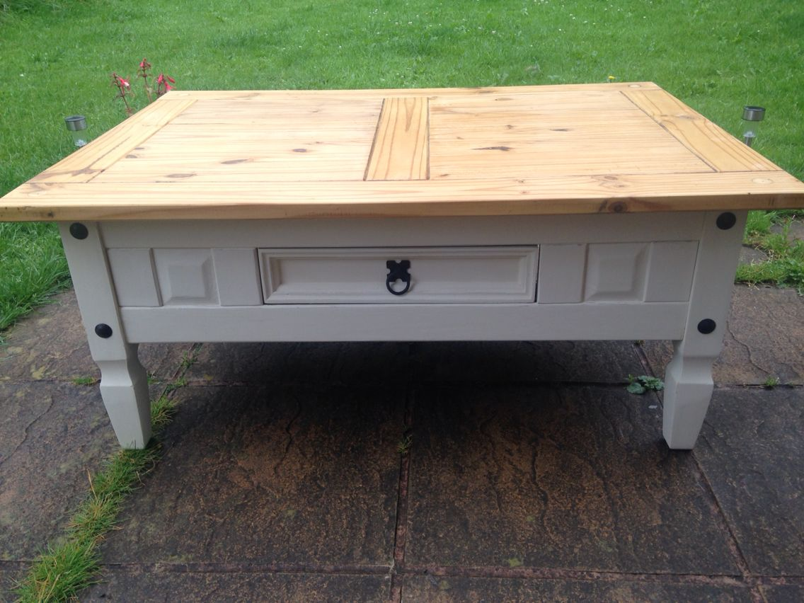 Shabby Chic Mexican Pine Coffee Table Painted Annie Sloan Pine Furniture Makeover Pine Coffee Table Shabby Chic Coffee Table