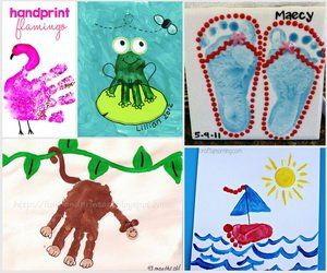 25 Fun And Beautiful Handprint Footprint Crafts For Your Kids To Make This Summer