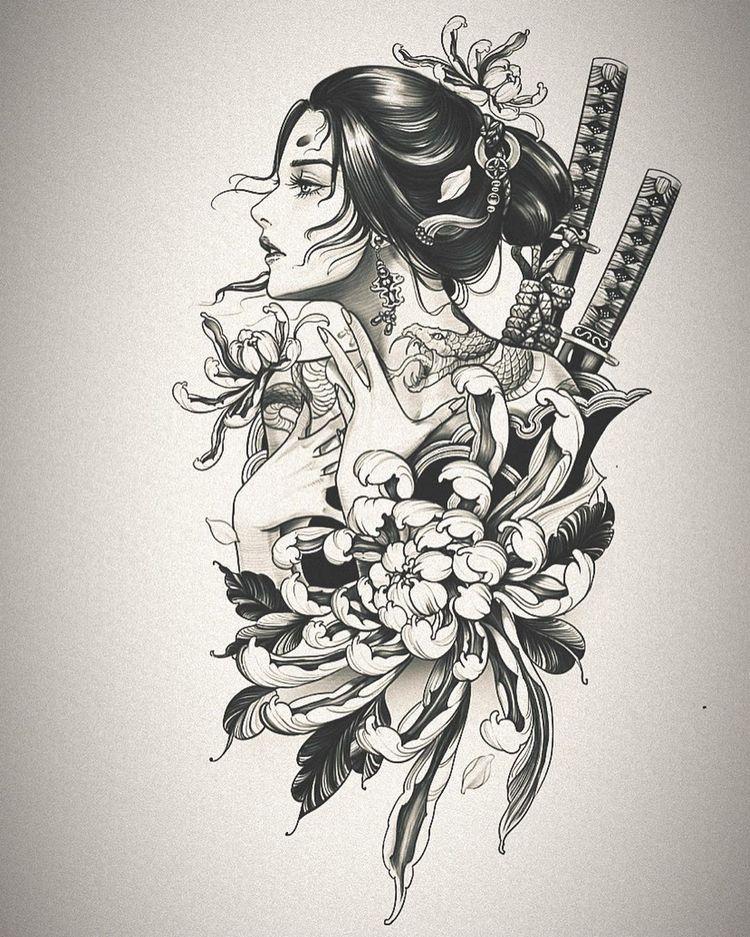 gheisa tattoo design